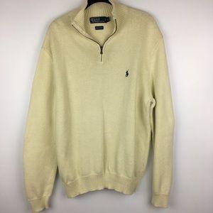 Polo RL Mens Slim Large 1/2 Zip Mock Neck Sweater
